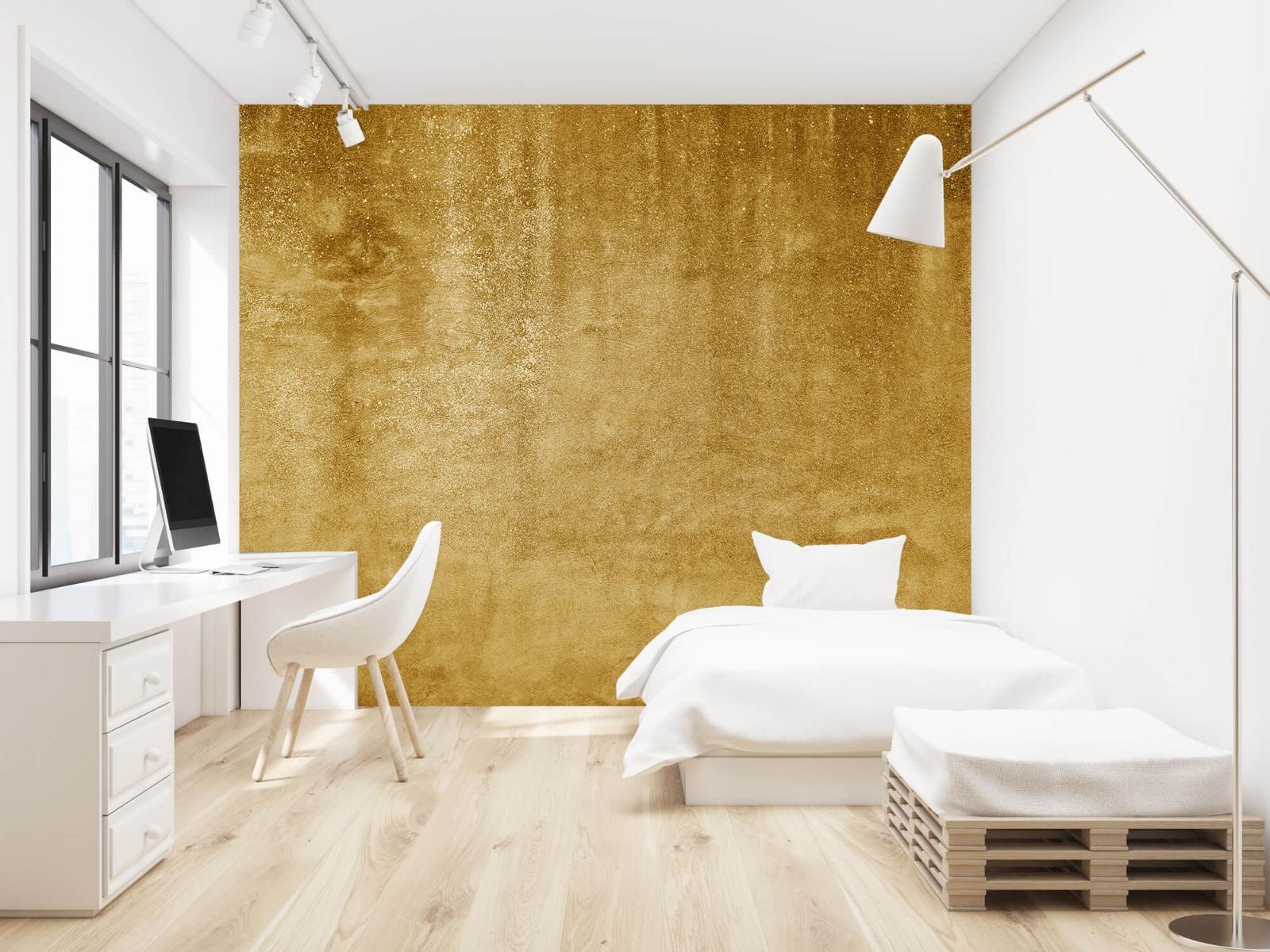 Betonoptik Tapete - Ockerhaltiger gelber Beton auf Fototapete - Wohnzimmer 22