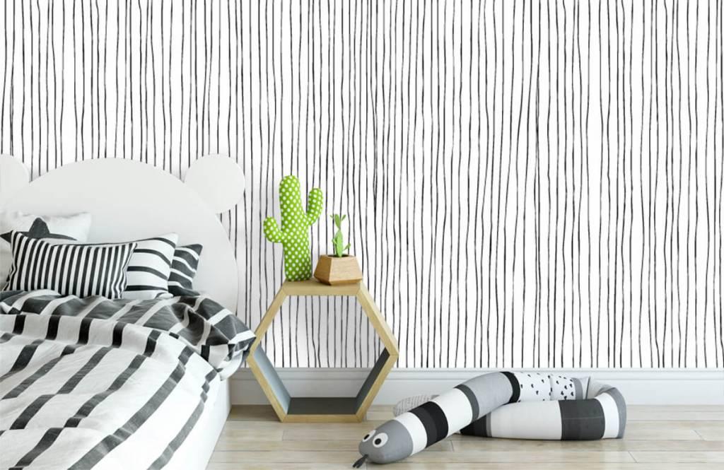Abstrakte Tapete - Schwarzweiß Tapete mit abstrakten Linien - Lagerhaus 2