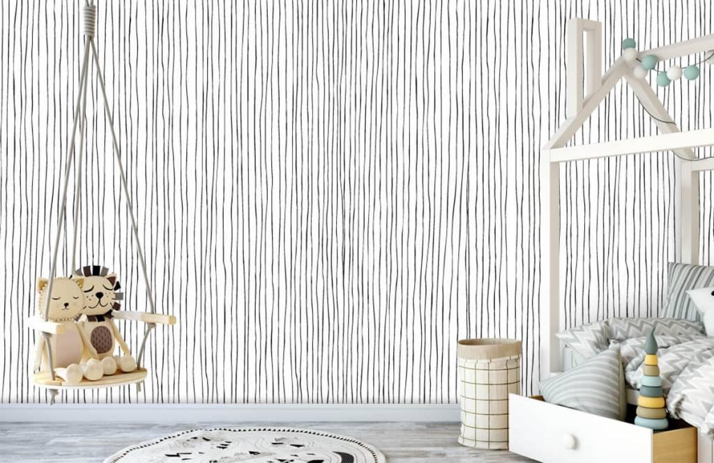 Abstrakte Tapete - Schwarzweiß Tapete mit abstrakten Linien - Lagerhaus 3