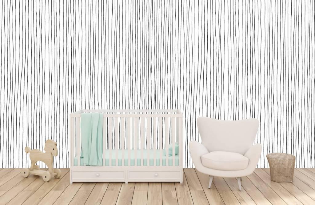Abstrakte Tapete - Schwarzweiß Tapete mit abstrakten Linien - Lagerhaus 5