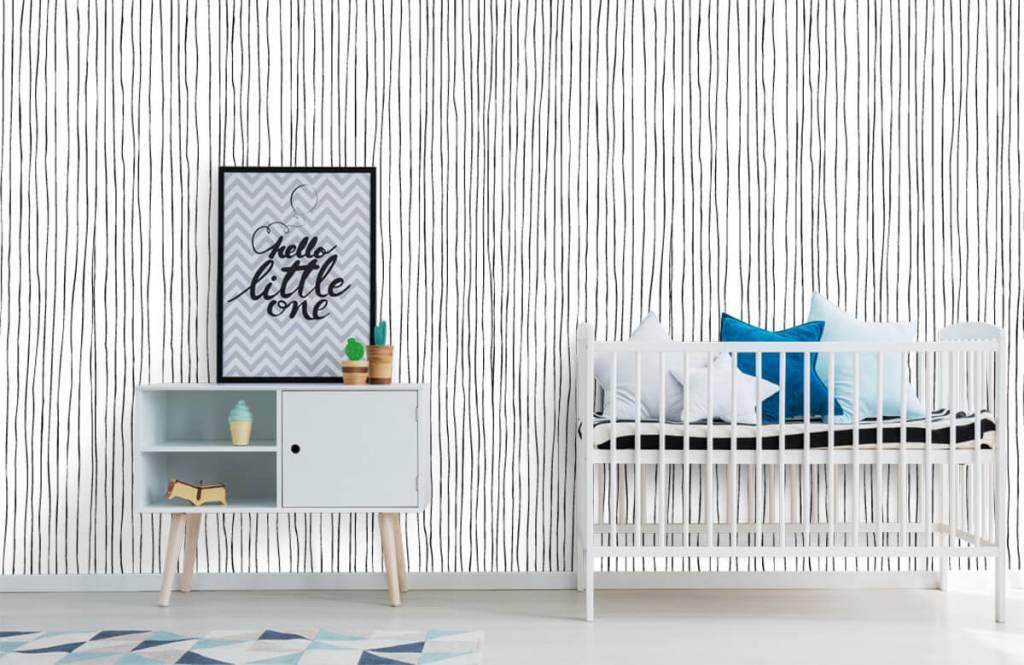 Abstrakte Tapete - Schwarzweiß Tapete mit abstrakten Linien - Lagerhaus 6
